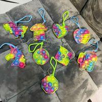 Empurre Pop Fitget It Party Favor UNICORN Chaveiro Controle RAT Pioneer Crianças Brinquedo Mental Aritmético Desktop Puzzle Brinquedos
