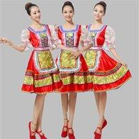 Vêtements ethniques Femmes Femmes De Haute Qualité Russie Russe Traditionnel Russe National Dance Costume Performance pour Femmes Robe Ljsh