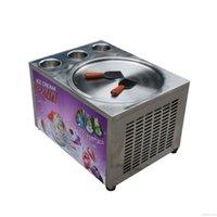 Ticari Masaüstü Tezgah Gıda İşleme Ekipmanları Bize WH Mini Karıştırın Anlık Kızarmış Dondurma Rulo Makinesi Tam Soğutucu