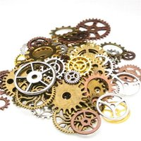 150pcs 3color Steampunk Charms Gear Pendant Antique bronze DIY Metal Jewelry Making