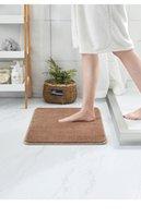 Tapis de bain en polaire corail Luxueux tapis antidérapant 40x60cm Tapis lavable Porte absorbant pour salle de douche Tapis de plancher de toilette