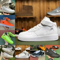 Nike Air Force 1 one airforce Shoes Venta 2021 Beat Designer Shoes Vintage Nuevo Skate Skate Sneakers Triple Negro Blanco Lino Naranja