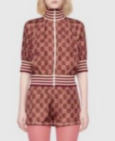 21 Yaz Spor Harfleri Moda Çift Kollu Renk Kapüşonlu Ceket Ceket Şort Kadınlar 416