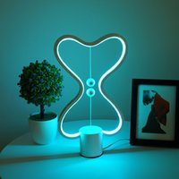 7 Farben Heng Balance Lampe LED Nachtlicht USB Powered Home Decor Schlafzimmer Büro Tisch Nachtlampe Licht DDA5391
