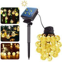 Lampes solaires 12m Crystal Ball LED Lampe de fées Férées Férées 50/100 LED Guirlands Garden Décor de Noël pour l'extérieur