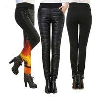 Women's Pants & Capris 4XL Winter Warm Thick Velvet Women Casual Windbreak Cotton Pencil Female High Waist BuLifting Leggings Plus Size