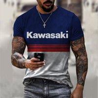 KAWASAKI original T-shirt d'impression 3D original mode unique Beau air respirant confortable Parti quotidien voyage visuel impact gothique style gothique hommes manches courtes