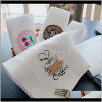 Насыщенные салфетки для салфетки Кухня хлопчатобумажная вафля кофе чай кружка полотенце белый чистящий ткань блюдо полотенца 5ytsy dsg0e