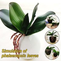 Decorative Flowers & Wreaths Real Touch Phalaenopsis Leaf Artificial Plant Orchid Auxiliary Material Flower Decoration Fake NHd7663