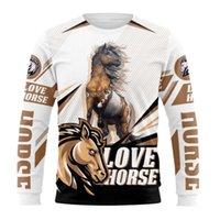 الرجال هوديس بلوزات مجنون الحصان سيدة 3d في جميع أنحاء الطباعة الملابس الأزياء للجنسين عارضة البلوز