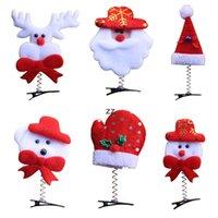 Cute Navidad Decoraciones Horquillas Dibujos animados Pelo Viste a los niños y adultos Decoración de la cabeza Regalos de Navidad Estilo mixto Enviar HWD10694