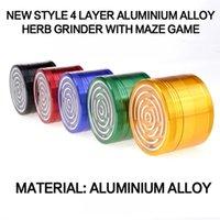Other Smoking Accessories Maze Game Grinder Aluminium Alloy 63mm Diameter 4 Parts Metal Herb Crushers vs sharpstone grinders ZWL397