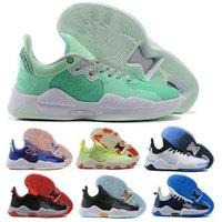 PG 5 PG5 Paul George Basketbol Ayakkabıları Sneaker ABD Playstation Beyaz La Damla Oyna Gelecek Racer Mavi Platin Tente Zapatos Erkekler Eğitmen