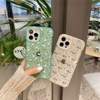 Moda Flores Padrão Pequenas Casos de Telefone Floral para iPhone 12 Mini 11 Pro Max 7 8 Plus Se Voltar Capa Bonito Transparente
