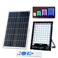 Solar Flood Lights Led Light Remote IP65 Waterproof Lamps Outdoor for Fence,Garden,Pool,Barn,Lawn,Flag Pole FEDEX