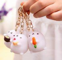 Kore El Sanatları Güzel Hayvan Takı Anahtar Patates Tavşan Anahtarlıklar Araba Dekorasyon Anahtar Yüzükler Küçük Anahtarlık Takı Hediyeler