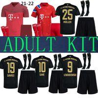 Взрослые 20 21 22 22 Бавария Kit Munich Soccer Jerseys Lewandowski 2021 2022 Hernandez Cuoutinho Shorts Womb Unifics Полный комплект Футбол