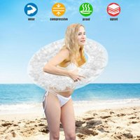 Life Vest & Buoy 2021 Summer Beach Swim Circle Float Gonfiabili Water Pool Party Inflatable Swimming Ring Baby Round Feather Rings A40