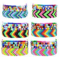 Kimter Bohemian Multicolor String Cord Woven Braided Bracelet Fashion Bead Handmade Friendship Bangle Women Men Q577FZ