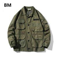 Vestes pour hommes automne Mode Harajuku Vêtements de travail Vêtements de travail Coréen Armée Verses Verses Coulus Casual Hommes Vêtements Japonais Streetwear M