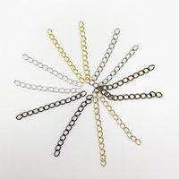 100 unids / lote 50 mm de 70 mm de extensión de extensión de la cadena brazalete de la cadena extendida extensor de cola para la joyería de bricolaje que hace hallazgos