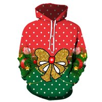 Men's Pattern 3D Printing Hoodie Party Fashion Tops Christmas Round Neck High Quality Street American Sweater Four Seasons NO63