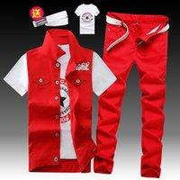 Gilet da uomo estivo Denim Jatcoat Jeans Jeans Pantaloni Casual 2PCS Set L2 Tracksuits