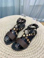 Lady Laureate Piattaforma Sandali Sandali Designer Shoed Shoed Calf Leathe Brevetto Canvas Donne Scarpe Dress Party Sandal con scatola taglia 35-41