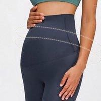 Yüksek Bel Siyah Fırçalanmış Annelik Pantolon Pro-Cilt Gebelik Crotchless Tayt Toptan Hemşirelik Kadın Pantolon1