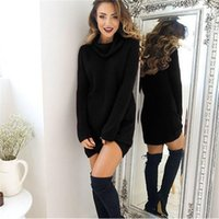 Women Turtleneck Knitted Sweaters Spring Autumn Long Sleeve Loose Elastic Female Pullover Pull Femme Sweter Mujer Casual Dresses