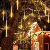 Strings LED Meteor Shower Garland Holiday Strip Light Outdoor Waterproof Fairy Lights For Garden Street Christmas Decoration 30cm 50cm