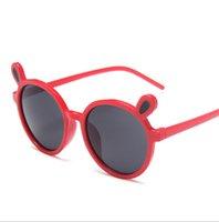 Kinder Sonnenbrille Schöne Bären Ohr Runder Rahmen Sonnenbrille Party Favorie Transparente Cartoon Sonnenbrille Kinder Strand Eyewear Kid HHC7089