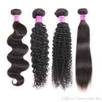 브라질 스트레이트 버진 인간의 머리카락 묶음 페루 깊은 물 파도 변태 곱슬 레미 헤어 익스텐션 습식 및 물결 모양의 인간의 머리카락 weaves