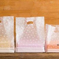 선물 포장 흰색 꽃 가방 비닐 봉투, 쇼핑 50pcs / lot hwd8282