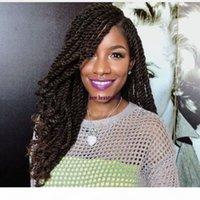 Lange Micro Lace Front Braid Perücke Full Hand gebunden kurze schwarze Twist Perücken mit lockigen Tipps für Frauen Hitzebeständige synthetische Haare