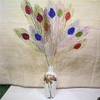 إكليل الزهور الزخرفية 70cm3 شوكة الاصطناعي نادر ريشة ورقة فرع ملون زهرة ترتيب المواد الداخلية النباتات وهمية المنزل الأربعاء