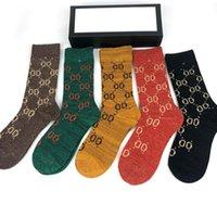Designer Mens Womens Socks Five Lusuryys G Sport Inverno Maglia Lettera stampata Brands Cotton Man Uomo Femal Sock con scatola
