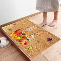 Carpets Pumpkin Face Welcome Entrance Doormats Rugs For Home Bath Living Room Floor Stair Kitchen Non-slip Halloween Decoration