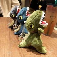 الكلاسيكية الزمدة ديناصور مفتاح سلسلة أفخم لعبة حلقة لطيف حقيبة شنقا tyrannosurus ريكس مصغرة دمية حقيبة صغيرة