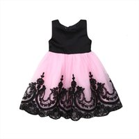 Fashion Princess Toddler Baby Girl Dress Girls Lace Floral Print Sleeveless Party Tutu Sundress Outfit