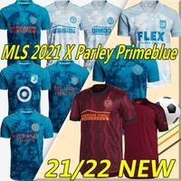 MLS X-Parley PrimeBlue 2021 Kits Fussball Jerseys Inter Miami Lafc La Galaxy Atlanta United DC Philadelphia Orlando New York City Männer Football Jersey