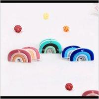 SOOTHER KOVICT 510 pcs dos desenhos animados forma arco-íris BPA minúsculo haste alimento sile sile bebê quinta dentição brinquedo 210311 o4xxd cfsfq