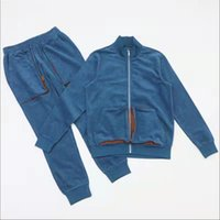 Pure cotton leisure tricolor youth suit hoodie pants
