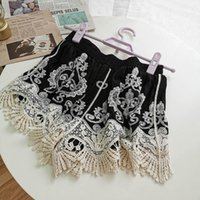 Elegant Lace Crochet Summer Women Shorts Sexy Hollow Out Cotton White Black Nude