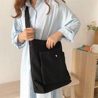Evening Bags Cute Canvas Handbag Shoulder For Women Large Capacity Simple Folding Handbags Tote Shopping Bag Pendant Book Girl