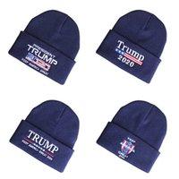 Gorra de lana de triunfo bordado 2020trump bordado gorra de punto, cabeza térmica Hip Hop Hat G5J3