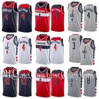 Print Basketball Bradley Beal # 3 Rui Hachimura 8 Russell Westbrook Jersey 4 Robin Lopez 42 Cassius Winston 5 Deni Avdija 9 City Grey S-2XL