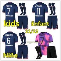 PSG Camiseta de fútbol 21 22 paris saint germain camisetas 2021 2022 MBAPPE NEYMAR JR ICARDI hombres + kit de niños maillot de foot 4th de la soccer jersey chandal