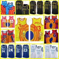 """Tune Squad 24 """"Los 8 Jersey Lebron 1/3 Tweety 6 James Angeles Basketball Bryant lakers"""" 23 Murray Michael 2 D.Duck! Taz 10 Lola Bunny"""