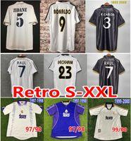 Real Madrid Retro Fútbol Jersey Ronaldo Guti Zidane Beckham Raul Camisa de Fútbol Carlos Figo Mijatovic 1997 98 99 2000 01 02 04 05 06 07 Classita de Futol